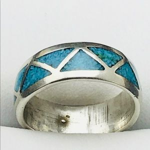 Jewelry - Sterling Silver Turquoise Band Ring